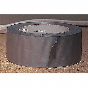 "Gray Vinyl Utility Tape, 2"" Width, 150 ft. Length, 6 mil Thickness"