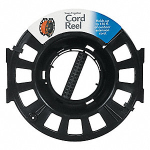 Black Hand Wind Cord Reel, Cord Ending: None, Not Included Cord Length