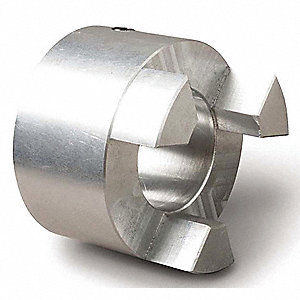 "AL090 Size 1/2"" Aluminum Jaw Coupling Hub, Keyway Size: None"