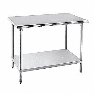 "Work Table, 72"" Width, 30"" Depth  Stainless Steel Work Surface Material"