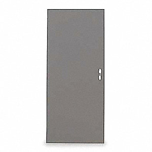 Flush Steel Door,84x48 In,18 ga