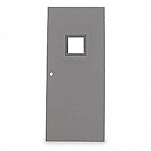 Vision Light Steel Door,80x48 In,18 ga