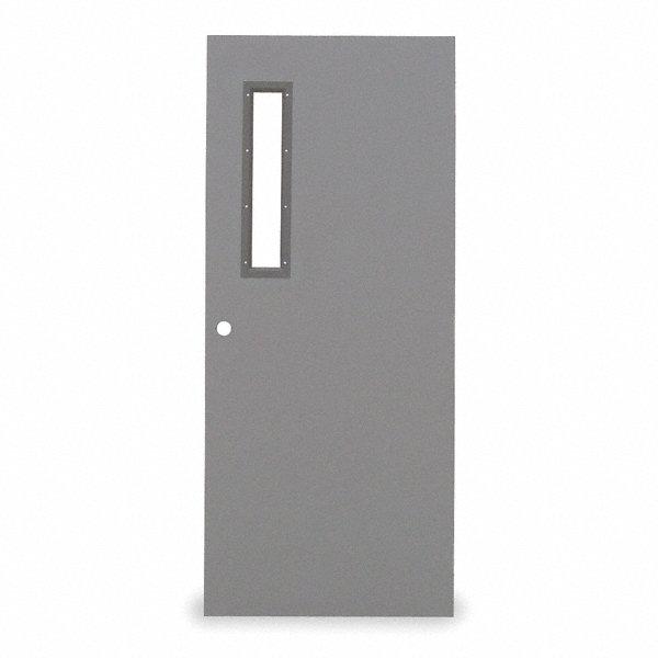 Narrow Lite Door : Ceco metal door with glass type in ehv chmd