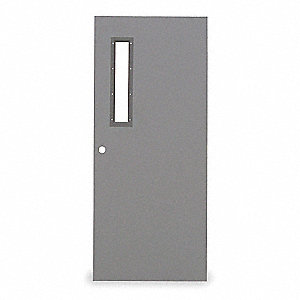 Metal Door With Glass,Type 1,84 x 32 In