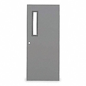 Narrow Light Steel Door,80x48 In,18 ga
