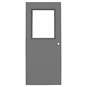 Metal Door With Glass,Type 1,84 x 36 In