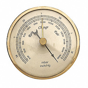 Barometer,Analog,940 to 1060 mBar