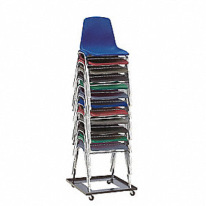 Poly Shell Chair Dolly,22-3/4x5-3/4