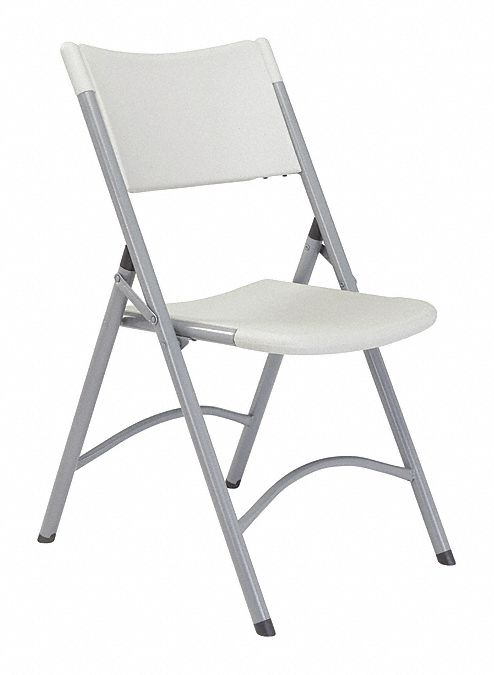 Textured Gray Steel Folding Chair with Speckled Gray Seat Color, 4PK