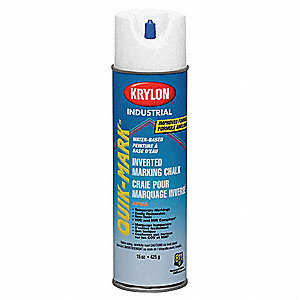 Water-Base Inverted Marking Chalk, White, 15 oz.
