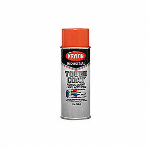 krylon tough coat spray paint in gloss orange for concrete