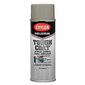 Tough Coat Spray Paint in Gloss Gray for Concrete, Masonry, Metal, Wood, 12 oz.