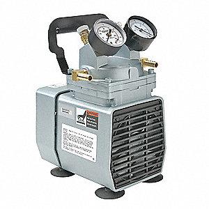 COMPRESSOR/VACUUM PUMP,1/8 HP,115 V