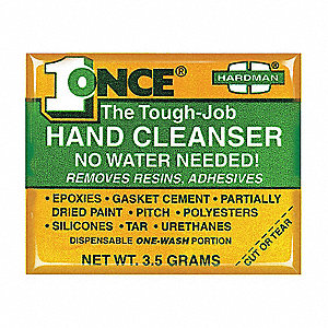 Hand Cleaner,OneTime Use,3.5g,Pk10