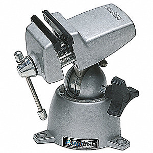 "Light Duty Multi-Angle Vise, 2-1/2"" Jaw Width, 2-1/4"" Max. Opening, 1-3/8"" Throat Depth"