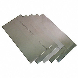 Stainless Steel Shim Stock Sheet Assortment, 302 Grade, Thickness Range (In.) : 0.001 to 0.020