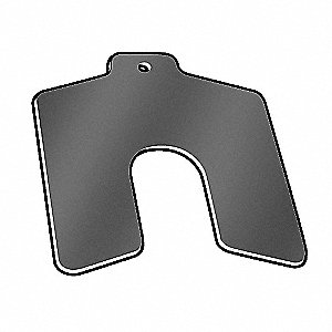 Slotted Shim,Tab,B,0.0050 In,PK20