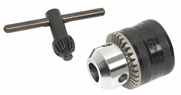 Drill Chuck,  For Corded or Cordless Reversible or Nonreversible Power Drills,  Threaded