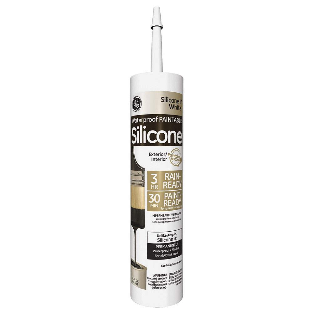 White Sealant, Silicone, 10 1 oz  Cartridge