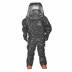 Level A Front-Entry Encapsulated Suit, orange, Size L/XL, Zytron 500