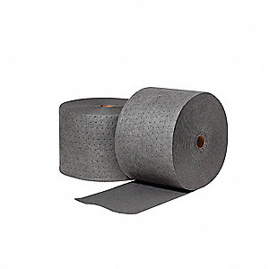 Heavy, Polypropylene Absorbent Roll, Fluids Absorbed: Universal / Maintenance, 300 ft. Length