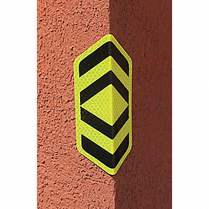 "Road Traffic Control, No Header, Aluminum, 6"" x 3-1/2"", High Intensity Prismatic"