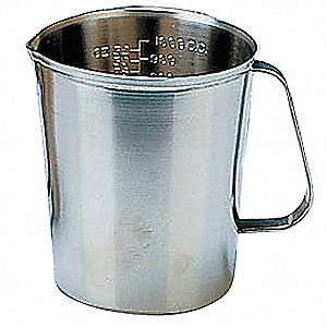 64 oz. Stainless Steel Graduated Measuring Cup, Gray
