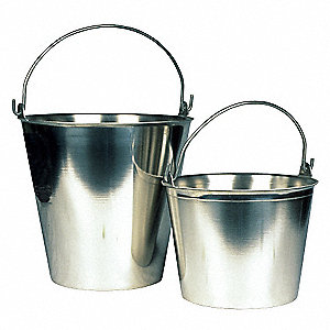Pail,16 qt.,Stainless Steel