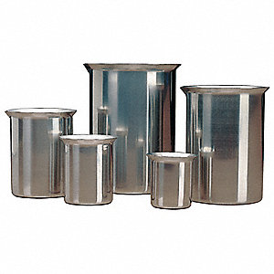 Metal Rolled Beaker, Low Form, 1 EA
