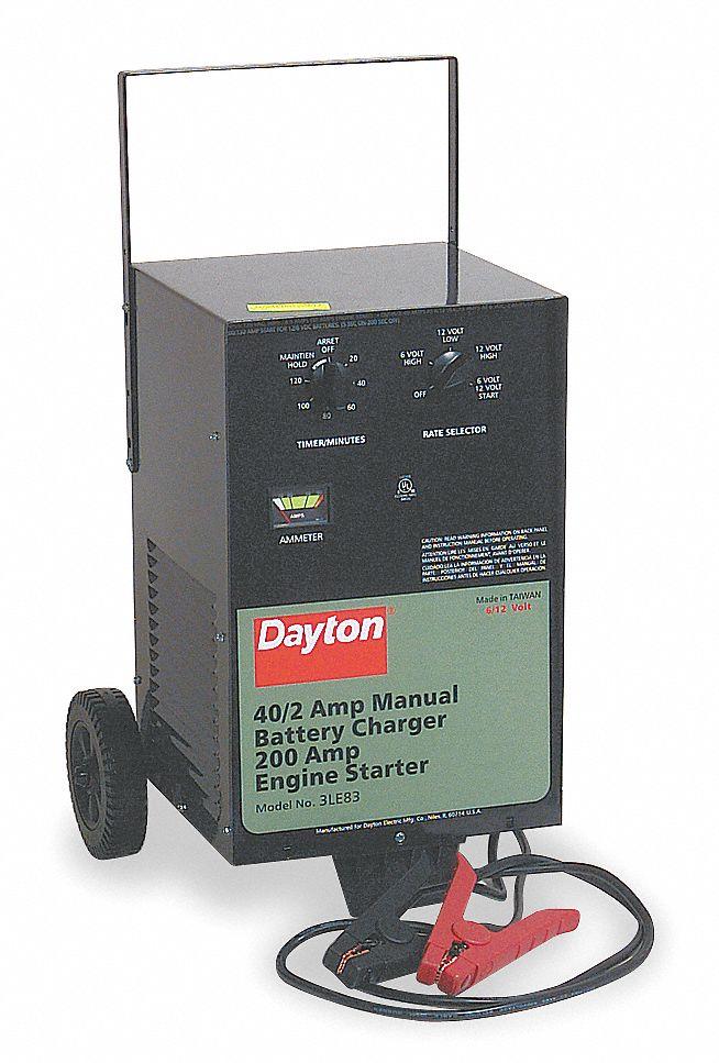 DAYTON Battery Charger/Starter - 3LE83|3LE83 - Grainger on