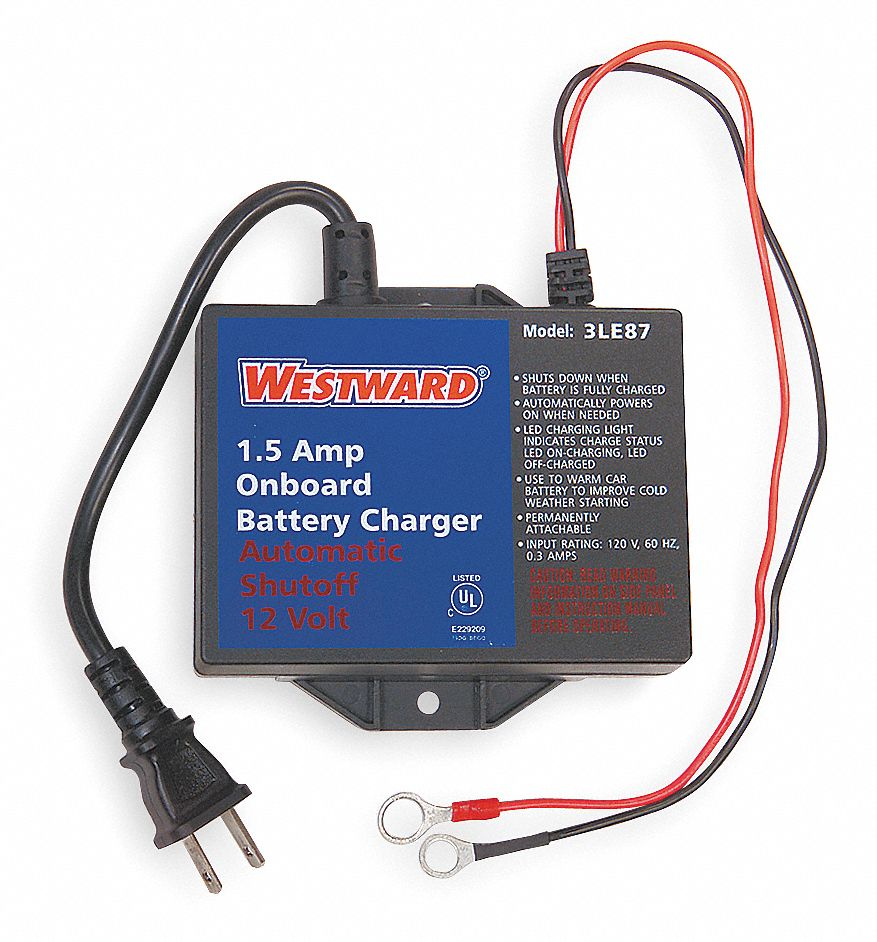 WESTWARD Automatic Battery Charger, Maintaining, AGM, Lead