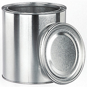 250mL (8 oz.) Lab Paint Can, Silver, 48PK