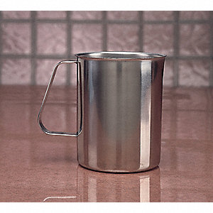 Metal Pitcher, Low Form with Handle, 1 EA