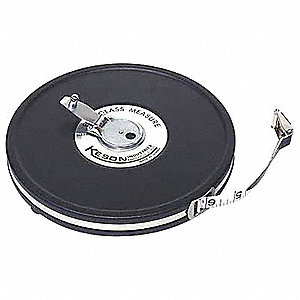 50 ft. Fiberglass SAE Long Tape Measure, Black