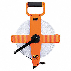 Long Tape Measure,1/2 Inx300 ft,Pumpkin