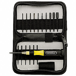 SVCM Steel Precision Screwdriver Set&#x3b; Number of Pieces: 18