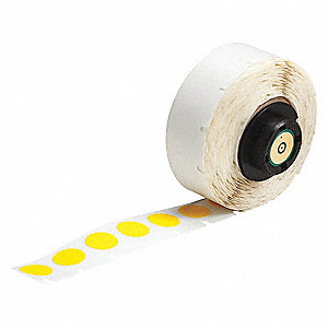 "Nylon Cloth Label, Yellow, 1/2""W x 1/2"""