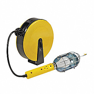 Ext. Cord Reel w/Hand Lamp,16/3AWG,40ft.