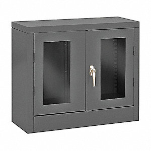"Shelving Cabinet,26"" H,30"" W,Gray"