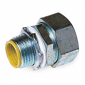 "Enhanced Rating Conduit Fitting, 4"", Straight, Box Connection: 4"" MNPT, Steel/Malleable Iron"