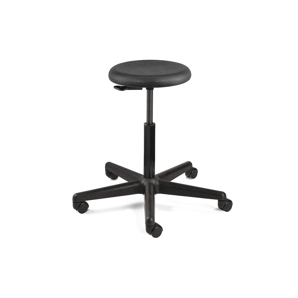 Cool Round Stool With 23 To 33 Seat Height Range And 300 Lb Weight Capacity Black Ibusinesslaw Wood Chair Design Ideas Ibusinesslaworg