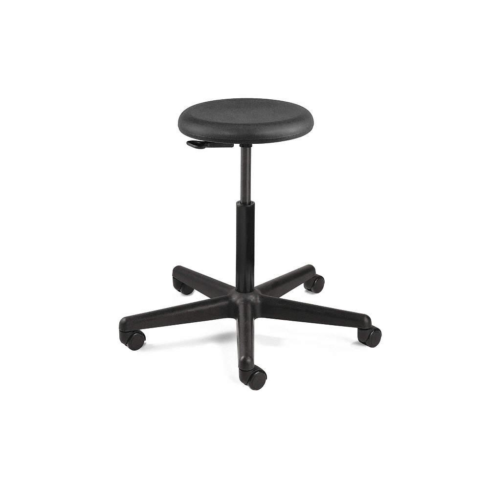 Excellent Round Stool With 23 To 33 Seat Height Range And 300 Lb Weight Capacity Black Inzonedesignstudio Interior Chair Design Inzonedesignstudiocom