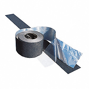 "60 ft. x 2"" Extra Coarse Grit Coated Foil Conformable Antislip Tape, Black"