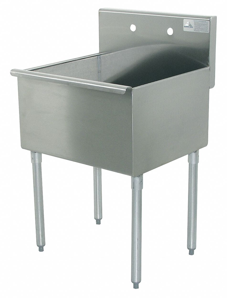 Grainger Approved Advance Tabco Budget Sinks Series 36 In X 21 In Stainless Steel Utility Sink 9e048 4 1 36 Grainger