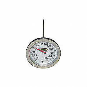 THERMOMETER 0-220F 8IN PROBE