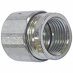 "3/4"" Rigid Compression Connector, Three-piece, 1‐1/2"" Overall Length"