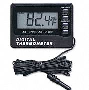Semi-Conductor Digital Panel Mount Thermometer, -58° to 158° Temp. Range (F)