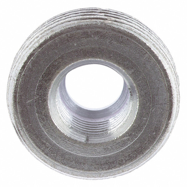 Grainger approved reducing bushing zinc plated steel