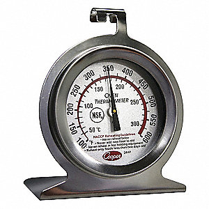 Analog Mechanical Food Service Thermometer with 100° to 600° Temp. Range (F)