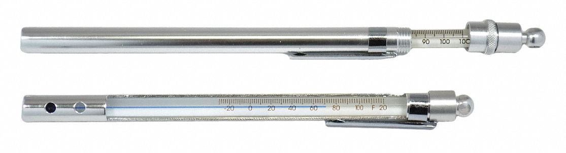 Liquid In Glass Thermometer,  Temp. Range -30° to 120°F